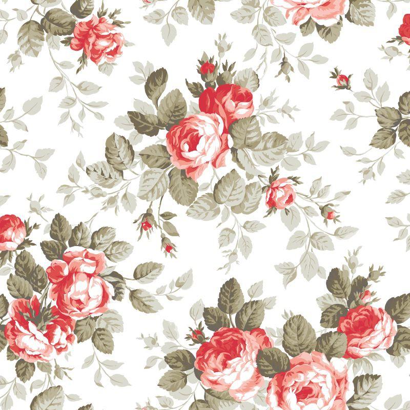 tapete rasch textil floral wei rot 138111. Black Bedroom Furniture Sets. Home Design Ideas