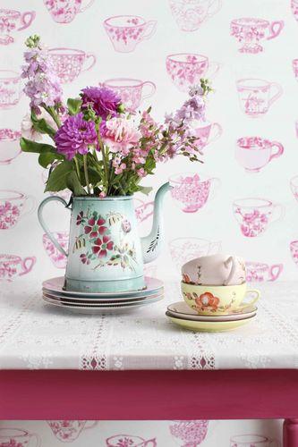 Rasch Textil Pretty Nostalgic non-woven wallpaper 138152 cup white blue  online kaufen