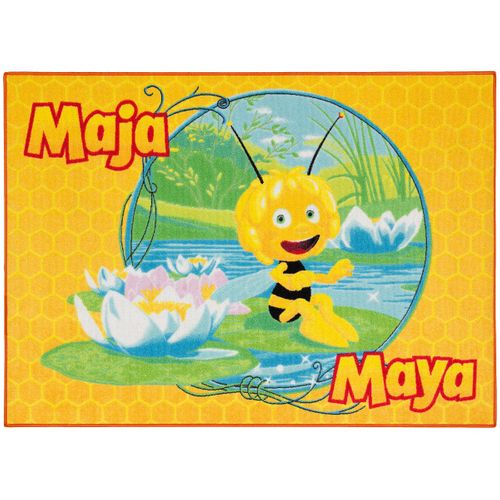 Carpet kids carpet Maya the Bee play carpet 95x133 cm / 37.4 '' x 52.36 '' yellow green