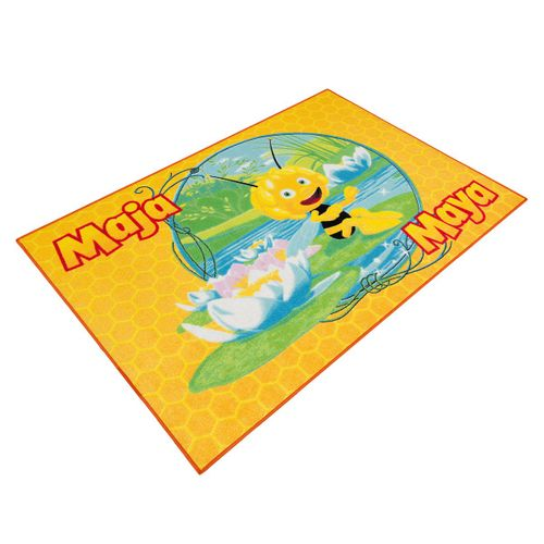 Carpet kids carpet Maya the Bee play carpet 95x133 cm / 37.4 '' x 52.36 '' yellow green online kaufen