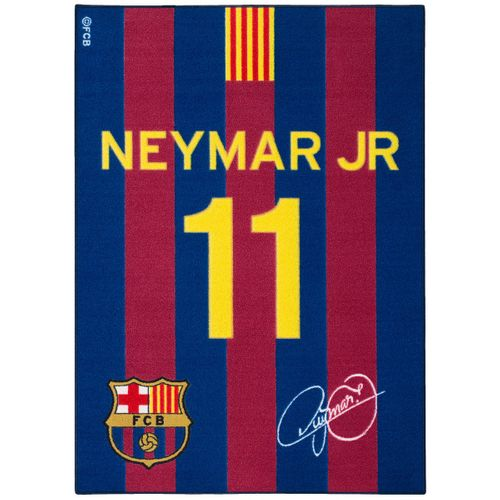 Teppich Barcelona Spielteppich Neymar Jr Fanteppich 95x133 cm blau rot gelb