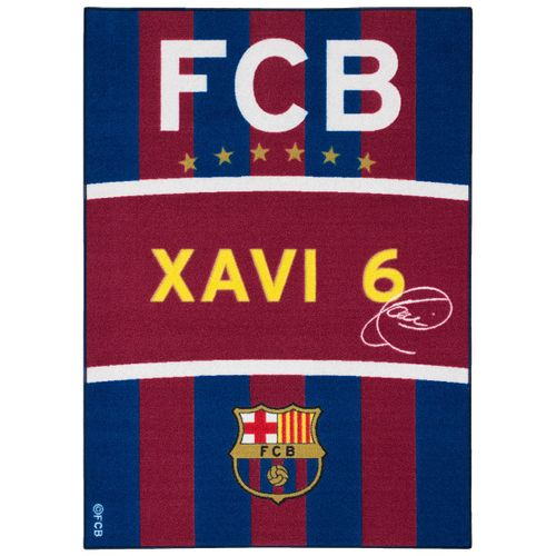Carpet kids carpet FCB Xavi fan carpet 95x133 cm / 37.4 '' x 52.36 '' blue red yellow white