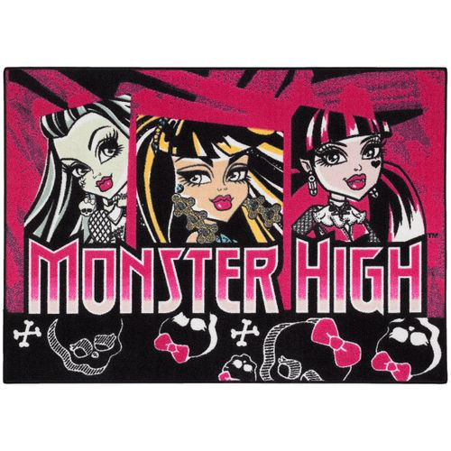 Carpet kids carpet Monsters High Skull play carpet 95x133 cm / 37.4 '' x 52.36 '' purple black