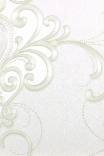 Wallpaper Glööckler diamonds ornament cream Metallic 54430
