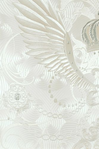 Wallpaper Glööckler crown wing cream Metallic 54457