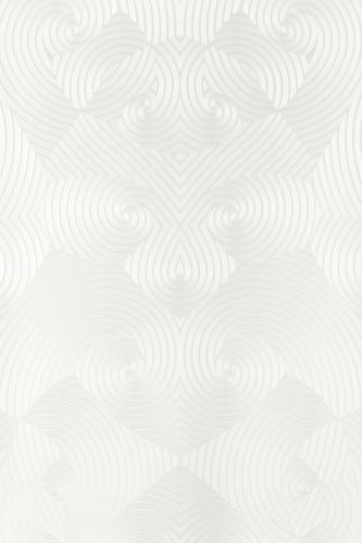 Wallpaper Glööckler geometric white Metallic 54463