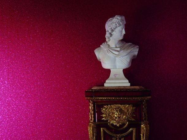 Harald Glööckler Deux wallpaper 54475 plain texture vine red online kaufen