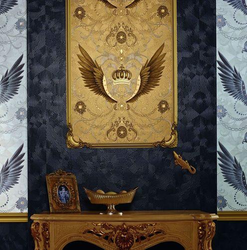 Wallpaper Glööckler crown wing anthracite Metallic 54454 online kaufen