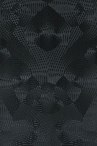 Wallpaper Glööckler geometric anthracite Metallic 54466