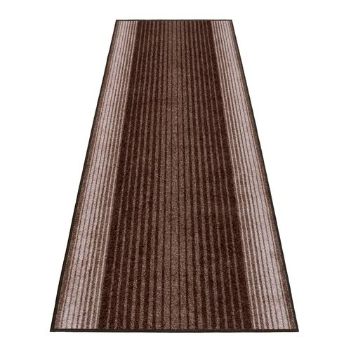 Runner Rug Carpet Capitol stripes brown 80cm Width