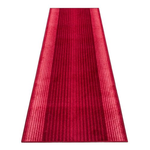 Runner Rug Carpet Capitol stripes red 100cm Width