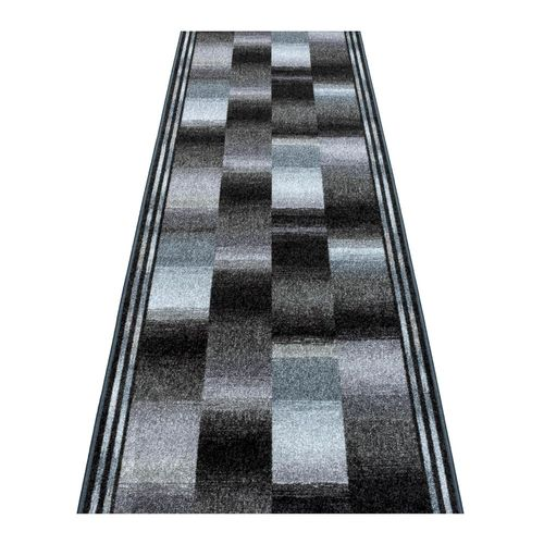 Runner Rug Carpet Ikat design grey blue 67cm Width