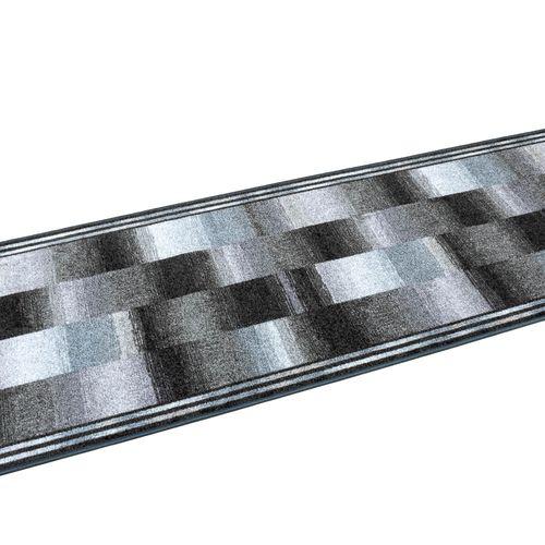 Teppichläufer Läufer Ikat Muster grau blau 80cm Breite online kaufen