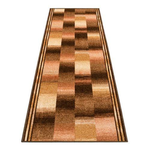 Runner Rug Carpet Ikat design brown 67cm Width