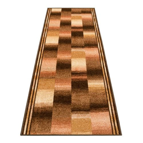 Runner Rug Carpet Ikat design brown 80cm Width