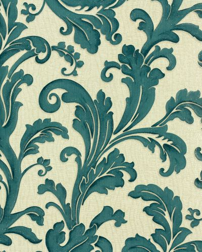 Graham & Brown Verona non-woven wallpaper 32-192 32192 baroque turquoise cream