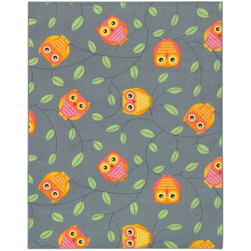 Carpet owls children 133 x 170 cm grey play carpet online kaufen