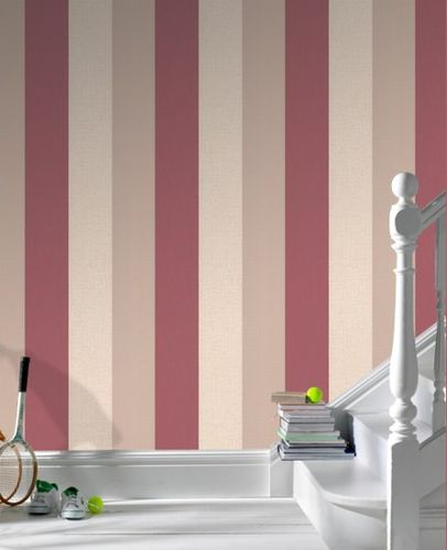 wallpaper Graham & Brown Fabric Collection 18944 stripes cream beige red online kaufen