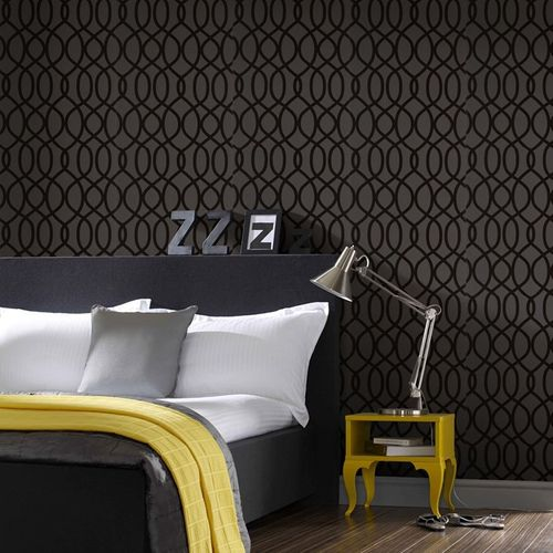 Non-woven wallpaper black Design Ultimate Flock 32-330 online kaufen