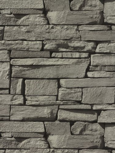 Stone wallpaper brick non-woven wallpaper 3D optics online kaufen