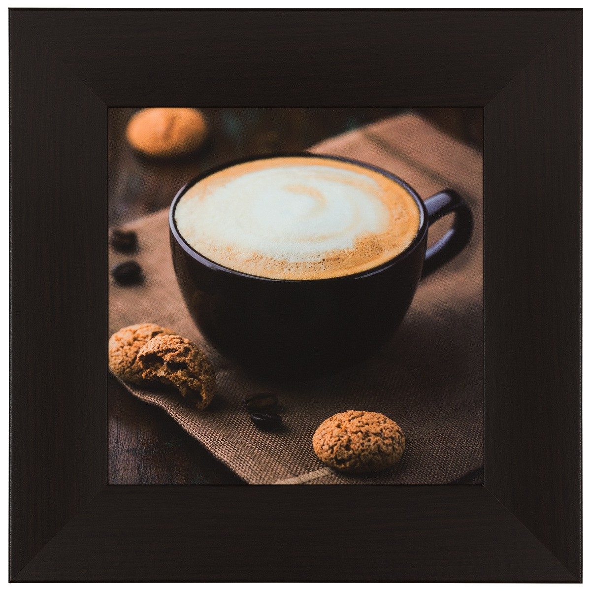wandbild 3er set kunstdruck je 23x23cm kaffee hellbraun. Black Bedroom Furniture Sets. Home Design Ideas