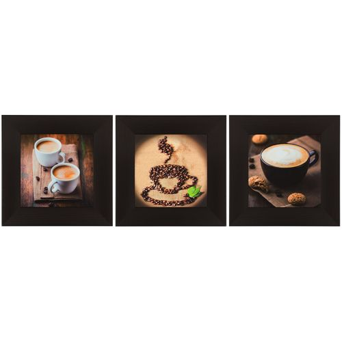 "Set of 3 murals coffee beans brown light brown 23x23cm 9.06""x9.06"" online kaufen"