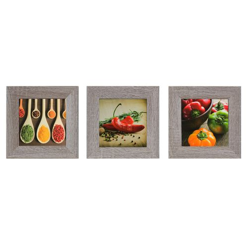"Set of 3 murals spices vegetables chili red green brown 23x23cm 9.06""x9.06"" online kaufen"