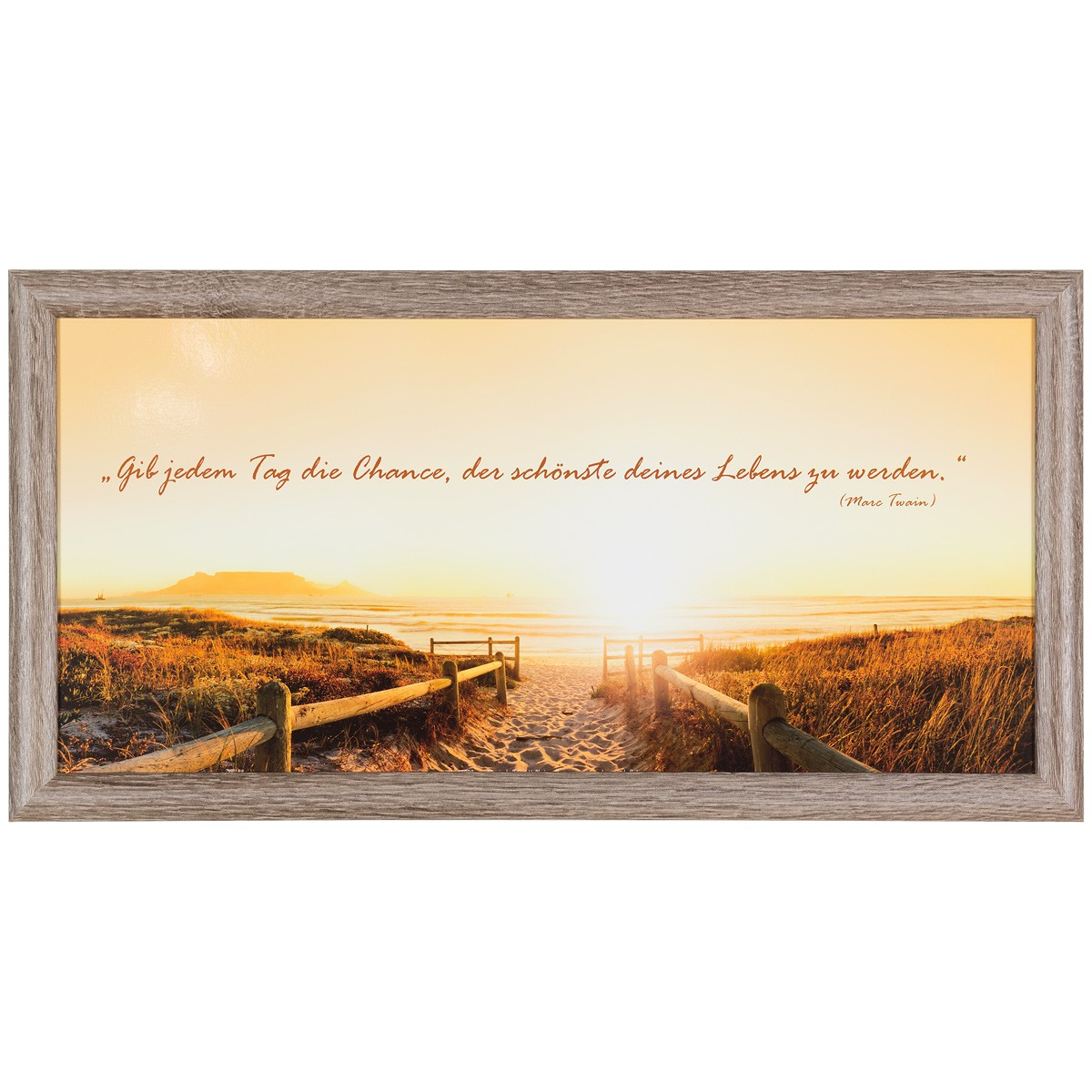 bild wandbild kunstdruck 23x49 spruch twain sonnenaufgang. Black Bedroom Furniture Sets. Home Design Ideas