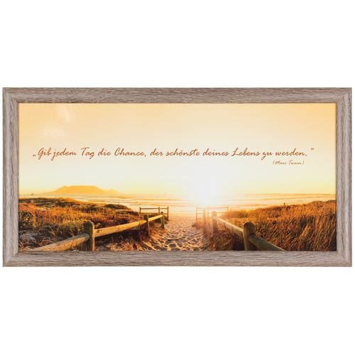"Canvas print picture Twain quote sunrise beach brown beige 23x49cm 9.06""x19.29"" online kaufen"