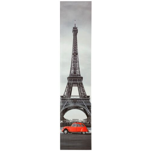 "Corner canvas print picture Eiffel tower CV2 grey red 25x120 cm / 9.84"" x 47.24"" online kaufen"