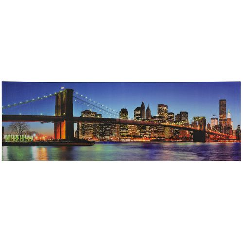 "Canvas print picture Brooklyn Bridge New York at night 50x150 cm 19.69"" x 59.06"" online kaufen"