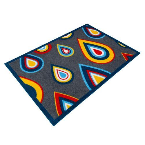 Designer door mat dirt-catching mat Lars Contzen Pretty Drips 50x78 cm / 19.69 '' x 30.71 '' grey blue online kaufen