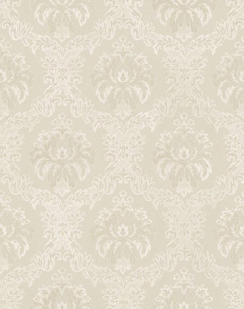 Tapete rasch textil barock creme metallic 324470 for Balkon teppich mit rasch tapeten barock