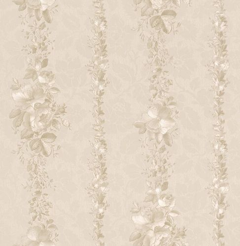 Rasch Textil Golden Memories vinyl wallpaper 324630 stripes floral cream online kaufen