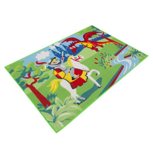 Carpet kids carpet knight dragon play carpet 80x120 cm / 31.5 '' x 47.24 '' green blue online kaufen