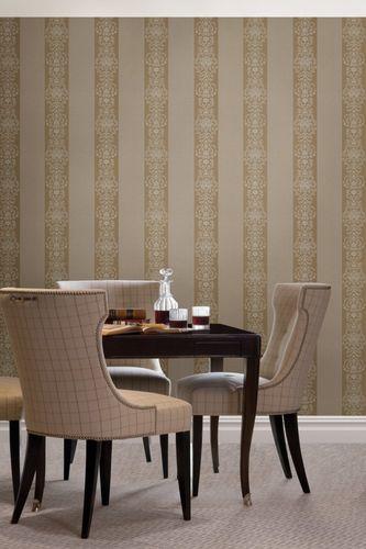 Vliestapete Streifen Barock braun gold Glanz 069007 online kaufen
