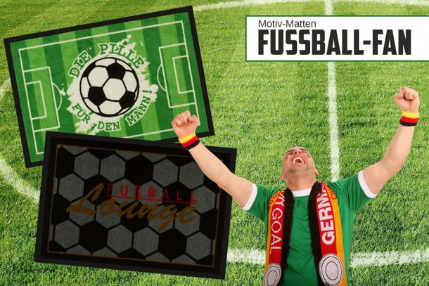 Door mat foot mat dirt-catching mat Fußball 50x75 cm / 19.69 '' x 29.53 '' 2 designs online kaufen