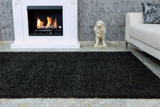 FancyHomeTrends Shaggy Carpet / rug Fancy Shaggy grey in 13 different sizes online kaufen