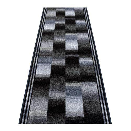 Runner Rug Carpet Ikat design grey 80cm Width