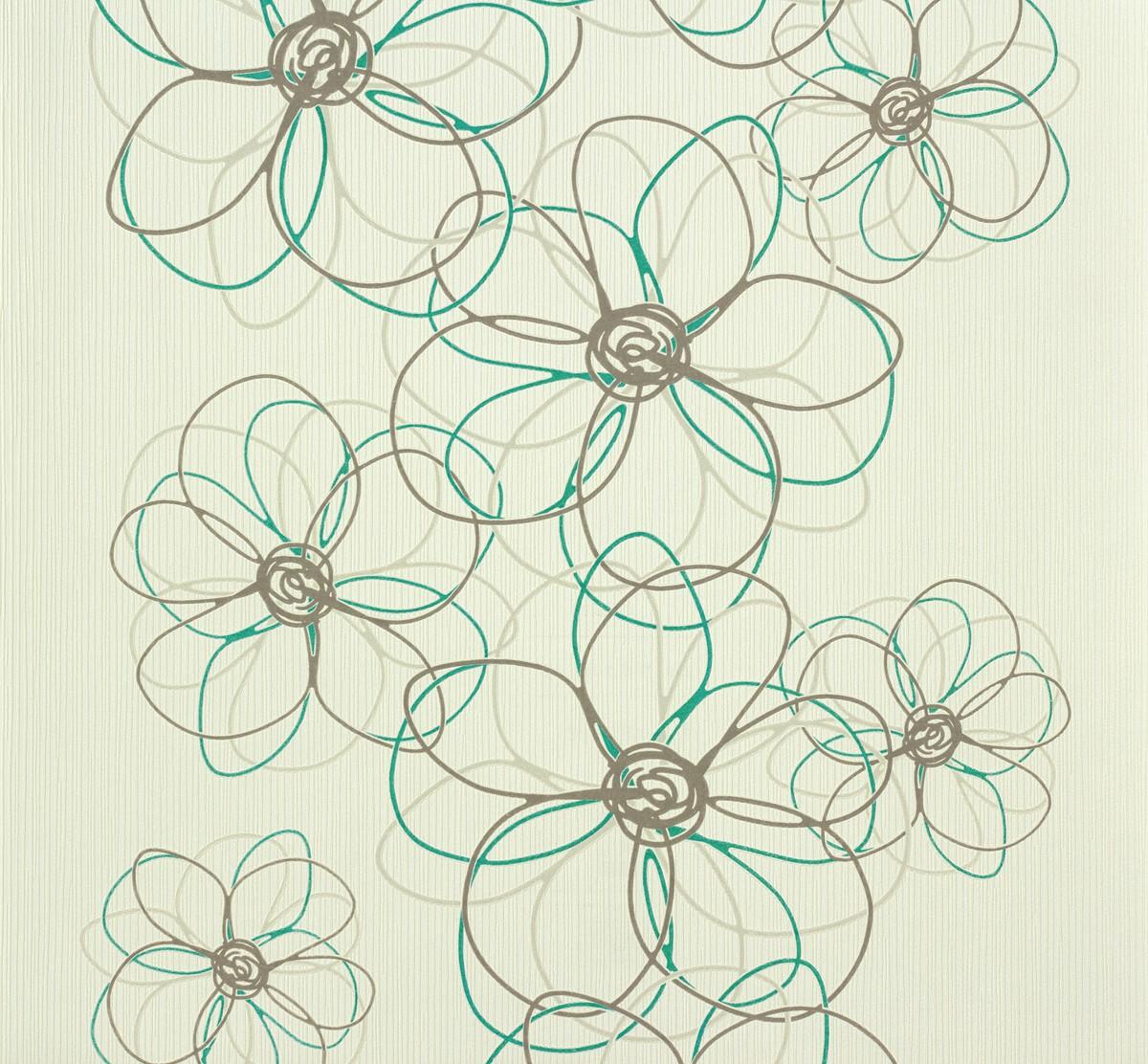 Non woven wallpaper ok 6 as creation 94443 2 944432 flower white non woven wallpaper ok 6 as creation 94443 2 944432 flower white grey turquoise mightylinksfo
