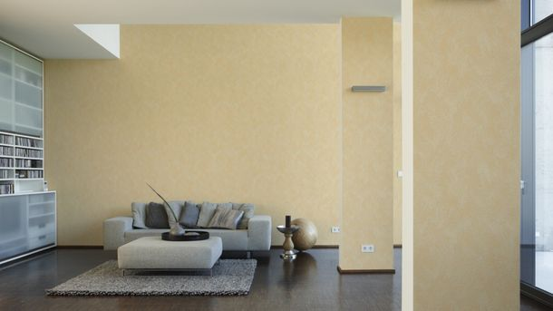 non-woven wallpaper OK 6 AS Creation 1909-63 190963 plaster-optic apricot yellow online kaufen