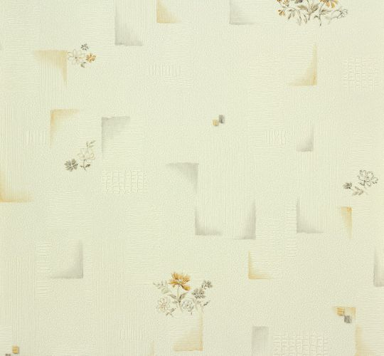 wallpaper OK 6 AS Creation 95412-2 954122 flowers design white apricot
