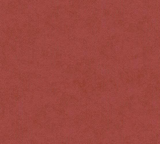 Wallpaper plain design gloss AS Creation red 1258-28