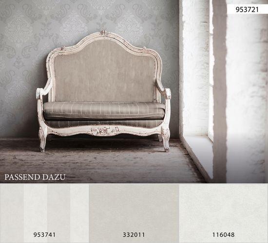 Wallpaper baroque glitter AS Creation taupe white 95372-1 online kaufen