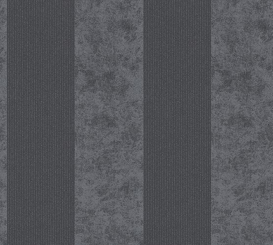 Wallpaper stripes striped glitter AS Creation grey 95373-4