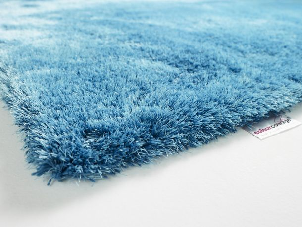 Carpet Lars Contzen Colourcourage Shaggy Design in 5 different shapes turquoise online kaufen