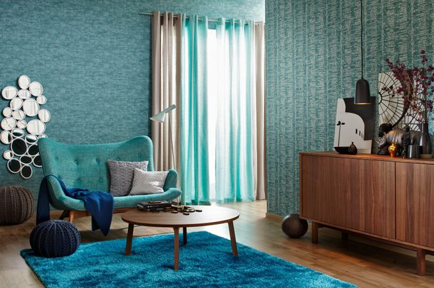 sch ner wohnen teppich emotion shaggy langflor blau. Black Bedroom Furniture Sets. Home Design Ideas