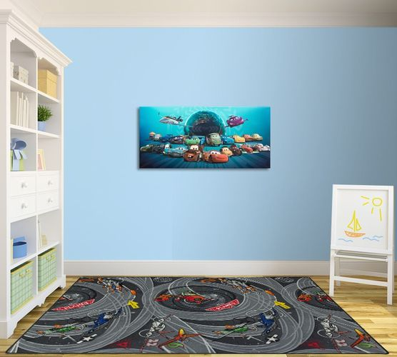 Carpet Kids rug Disney Pixar Planes Dusty Skipper Rieley 133 x 180 cm grey online kaufen