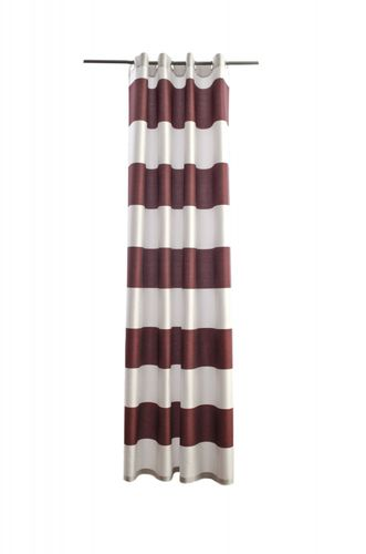 Homing eyelet curtain Burbank non-transparent 140x245 573516 stripes red silver online kaufen