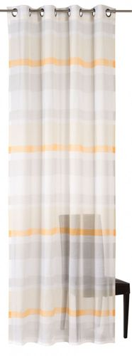 Eyelet curtain Homevision Sweet Love stripes half-transparent 140x255 in 2 colors online kaufen